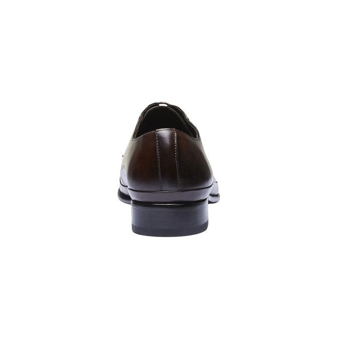 Kožené polobotky v Derby střihu bata, hnědá, 824-4550 - 17