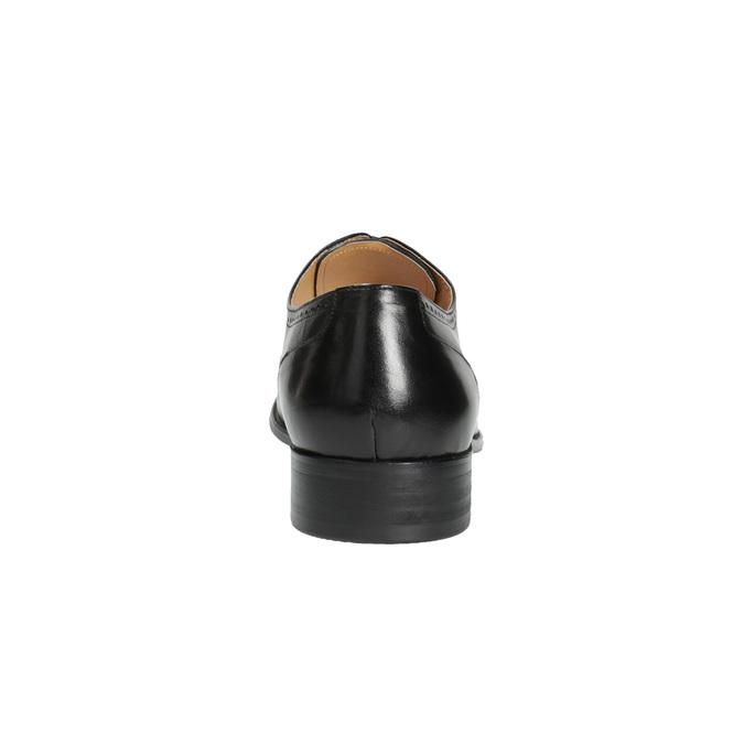 Kožené polobotky v Oxford střihu bata, černá, 824-6642 - 17