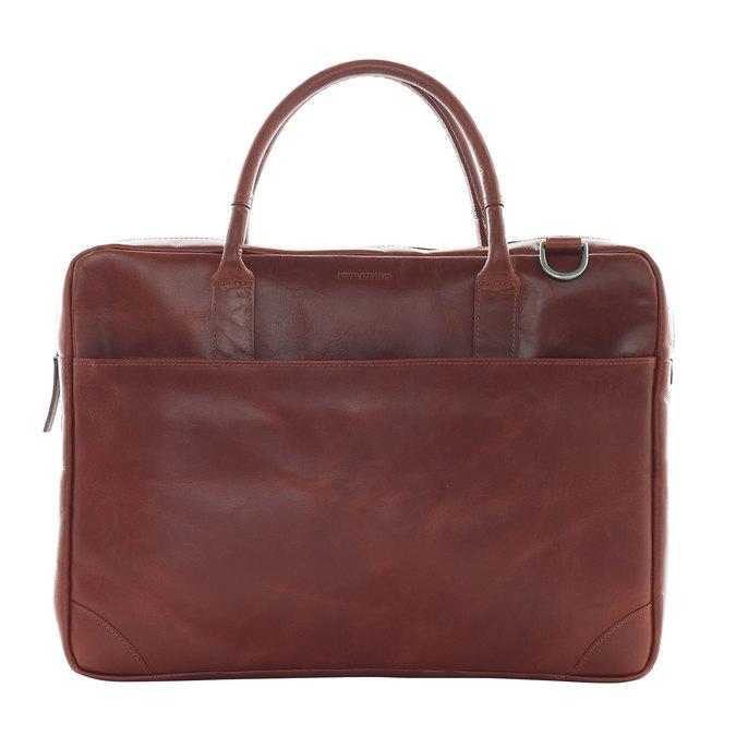Kožená taška s popruhem royal-republiq, hnědá, 964-4199 - 26