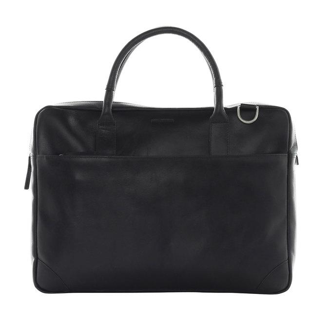 Kožená taška s popruhem royal-republiq, černá, 964-6199 - 26