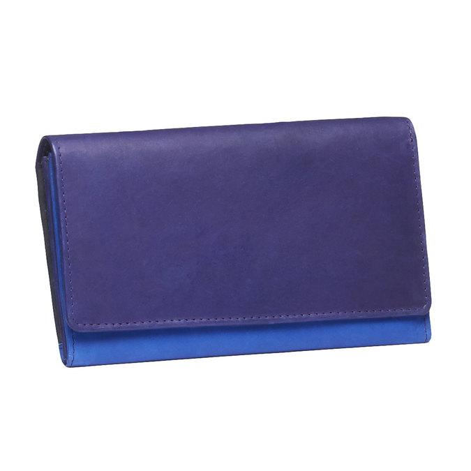 Dámská kožená peněženka bata, modrá, 944-9156 - 13