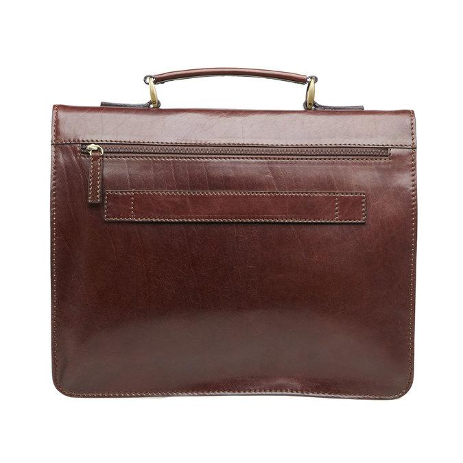 Pánská kožená taška elega, hnědá, 964-4155 - 26