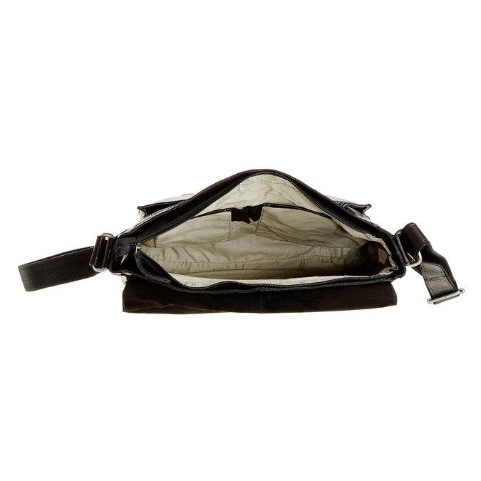 Kožená brašna bata, černá, 964-6178 - 15