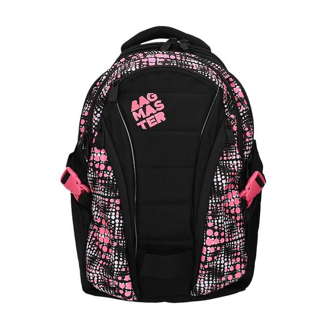 Dívčí školní batoh s potiskem bagmaster, černá, 969-5615 - 19