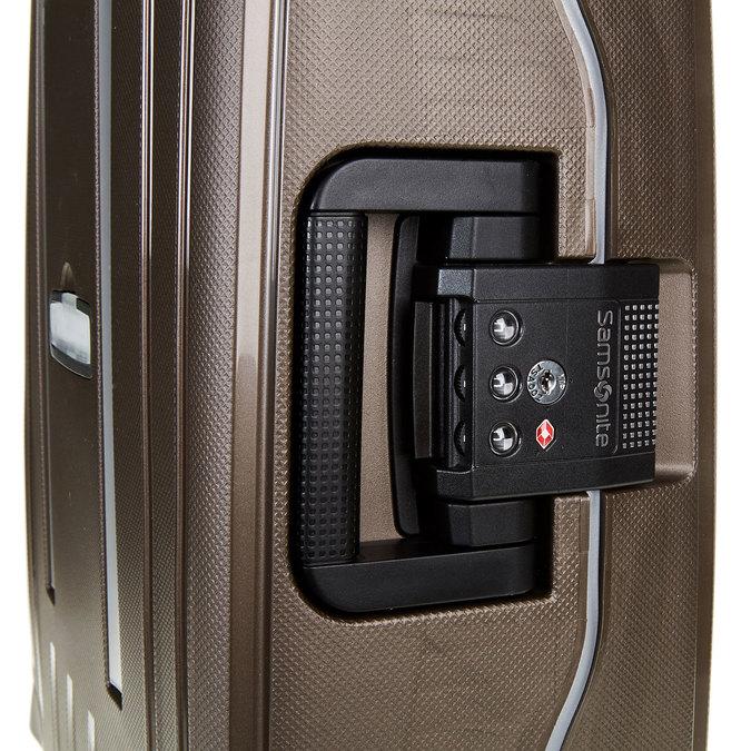 Kvalitní skořepinový kufr samsonite, hnědá, 960-4321 - 17