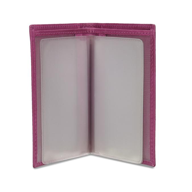 Kožené pouzdro na karty bata, růžová, 944-5158 - 15