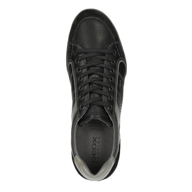 Kožené tenisky s prodyšnou podešví geox, černá, 824-6037 - 19
