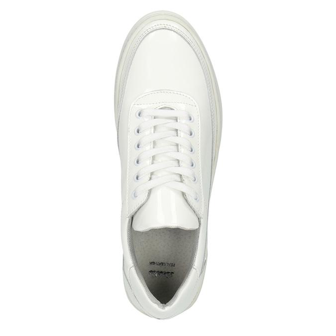 Bílé kožené tenisky bata, bílá, 528-1632 - 19