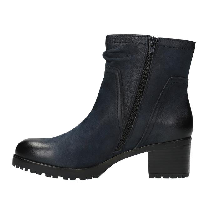 Dámská kotníčková obuv bata, modrá, 696-9603 - 26