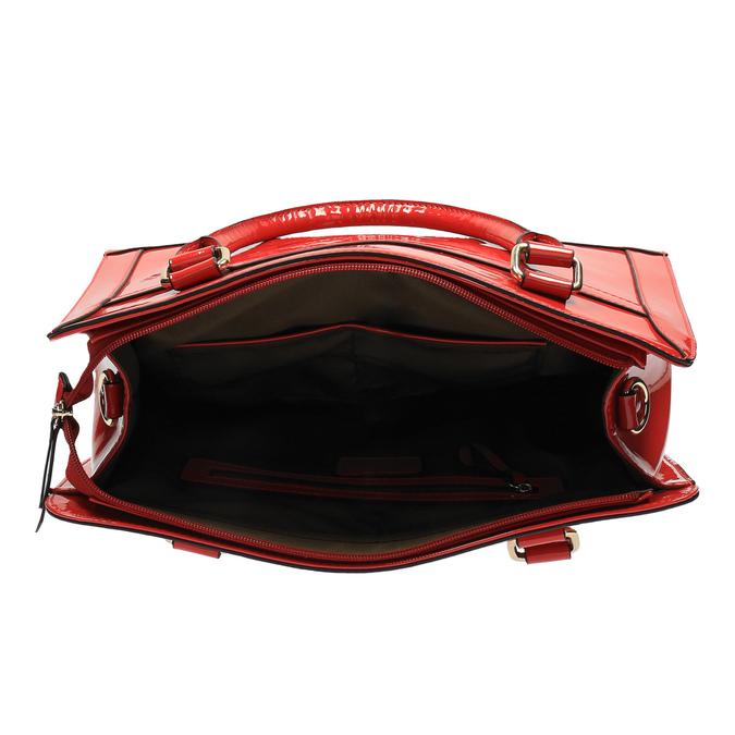 Lesklá červená kabelka bata, červená, 961-5610 - 15