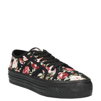 Tenisky s květinovým vzorem bata, černá, 529-0630 - 13