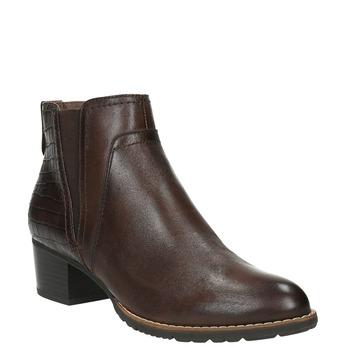 Dámská kotníčková obuv šíře H bata, hnědá, 696-4616 - 13