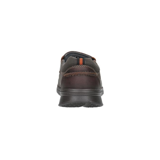 Pánské kožené Slip-on clarks, hnědá, 816-4004 - 17