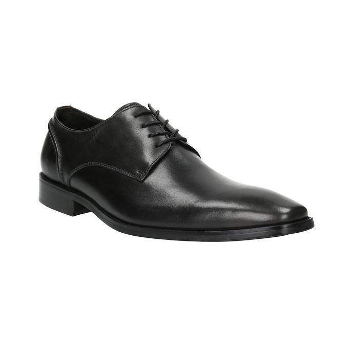 Pánské kožené polobotky bata, černá, 826-2646 - 13