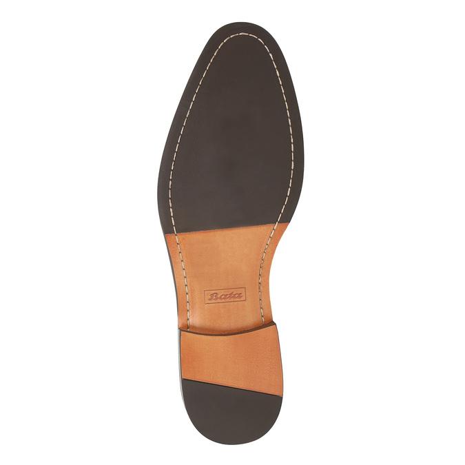 Černé kožené polobotky s ležérní podešví bata, černá, 824-6679 - 26