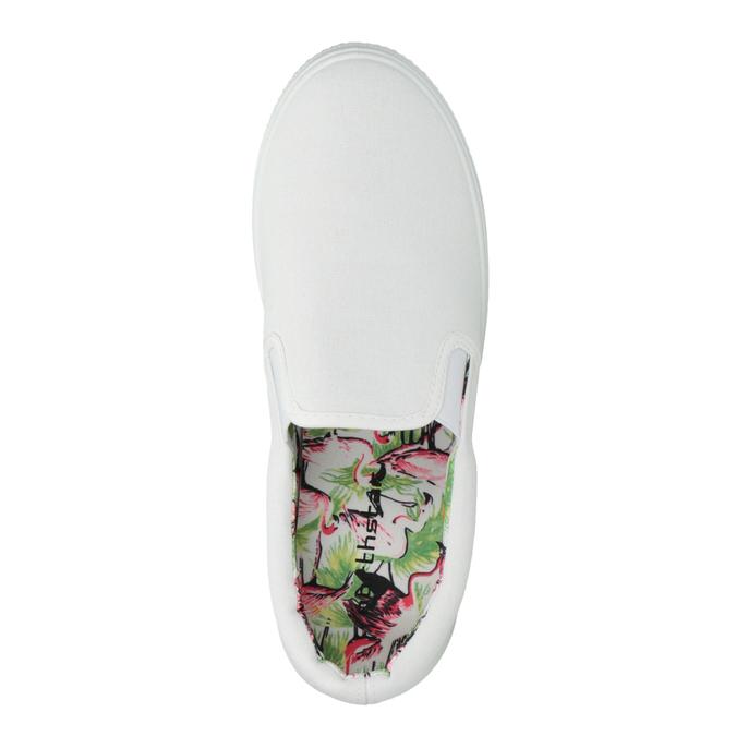 Bílé Slip-on na široké podešvi bata, bílá, 529-1631 - 19