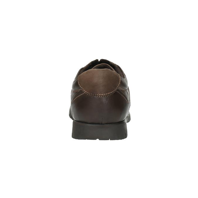 Ležérní kožené polobotky bata, hnědá, 826-4652 - 17