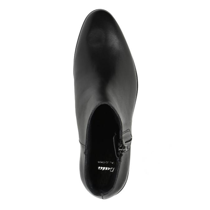 Kožená kotníčková obuv se zipem černá bata, černá, 594-6518 - 19