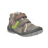 Dětská kotníčková obuv na suché zipy mini-b, hnědá, 211-2605 - 13