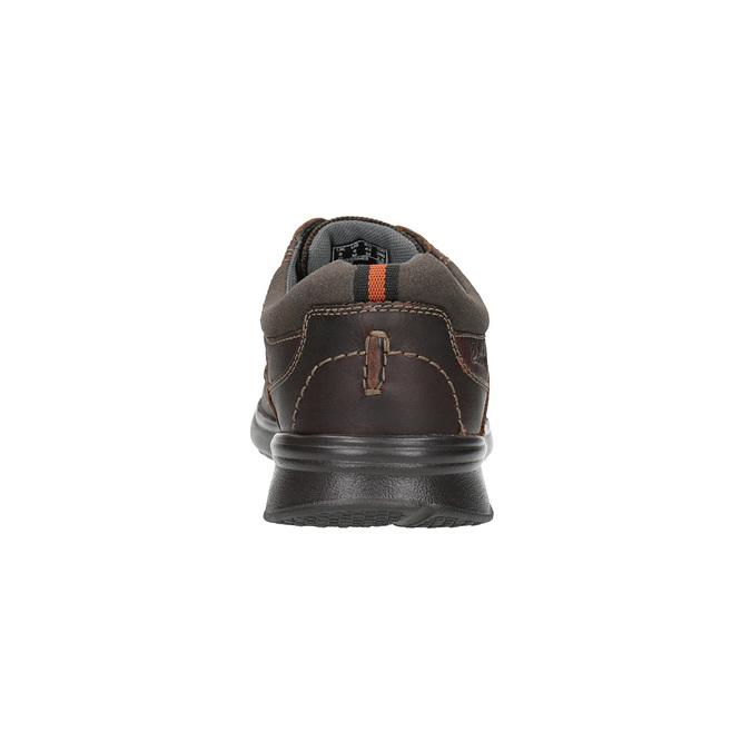 Ležérní kožené polobotky clarks, hnědá, 826-4002 - 17