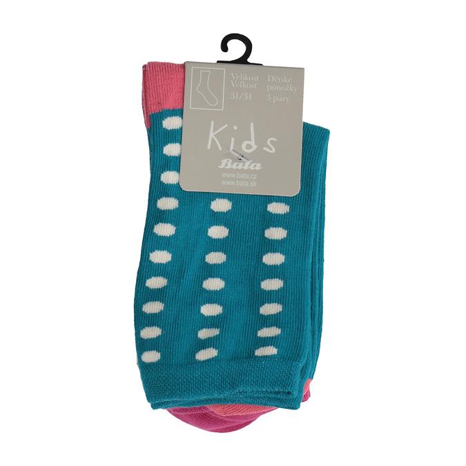 Dětské barevné ponožky 3 páry bata, 919-0493 - 13