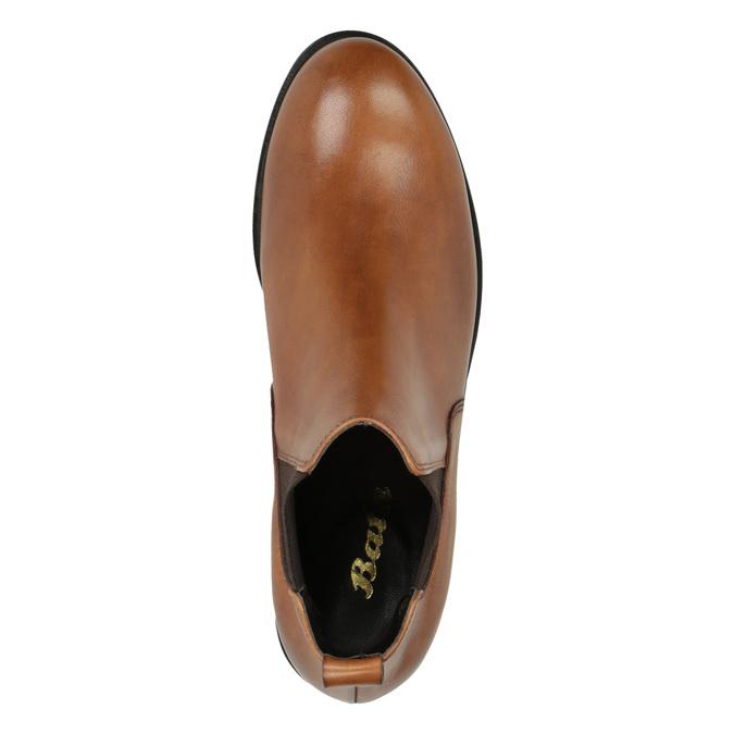 Dámské kožené Chelsea boots bata, hnědá, 594-3902 - 19