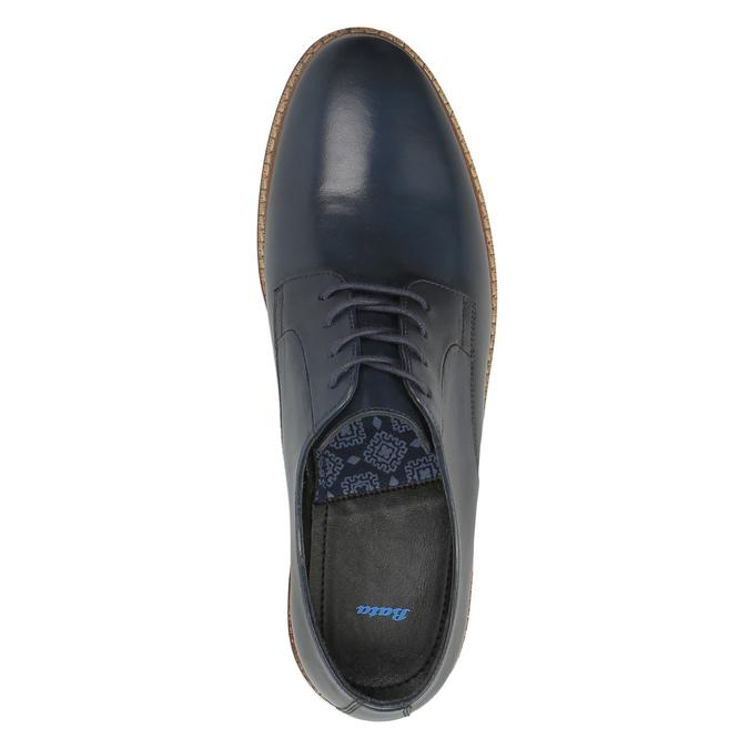 Ležérní kožené polobotky bata, modrá, 826-9644 - 19