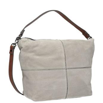 Kožená kabelka v Hobo stylu bata, šedá, 963-2130 - 13