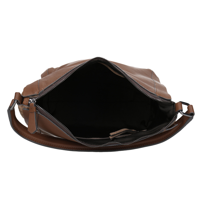 Hnědá kožená kabelka bata, hnědá, 964-3254 - 15
