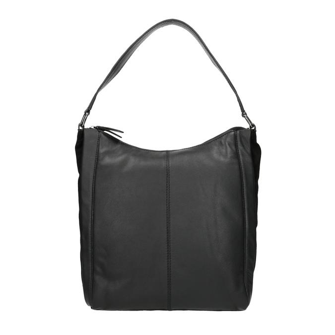Kožená kabelka v Hobo stylu černá bata, černá, 964-6254 - 26