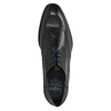 Černé kožené polobotky s modrými detaily bugatti, černá, 824-6016 - 19