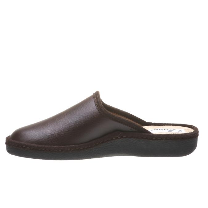 Pánská domácí obuv s uzavřenou špicí bata, hnědá, 871-4304 - 15