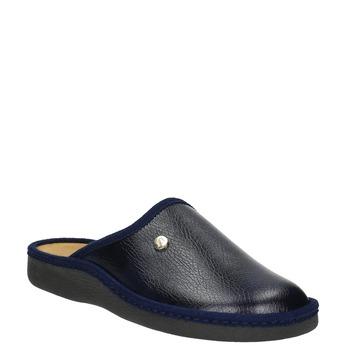 Pánská domácí obuv s uzavřenou špicí bata, modrá, 871-9304 - 13