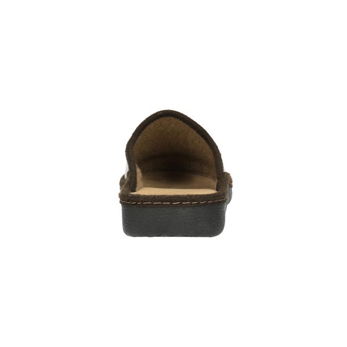 Pánská domácí obuv s uzavřenou špicí bata, hnědá, 871-4304 - 17