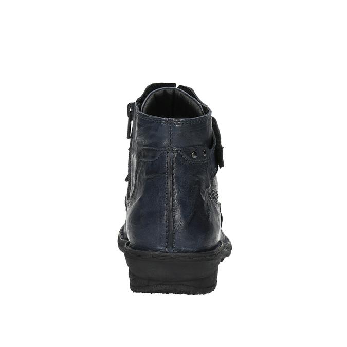 Dámská kotníčková obuv bata, modrá, 526-9602 - 17
