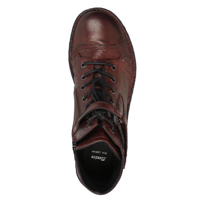 Dámská kožená obuv bata, červená, 526-5602 - 19