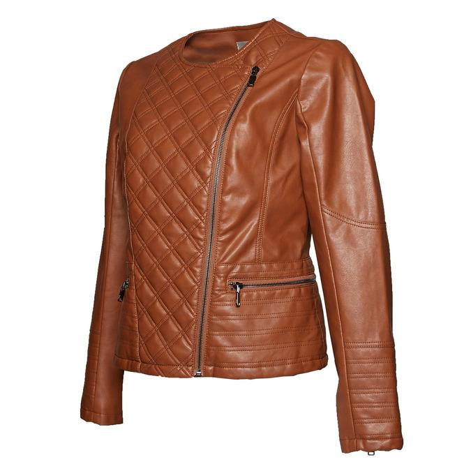 Dámská bunda s šikmým zipem bata, hnědá, 971-3186 - 16