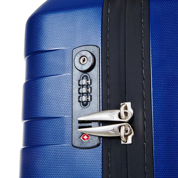 Modrý kufr na kolečkách roncato, modrá, 960-9604 - 17
