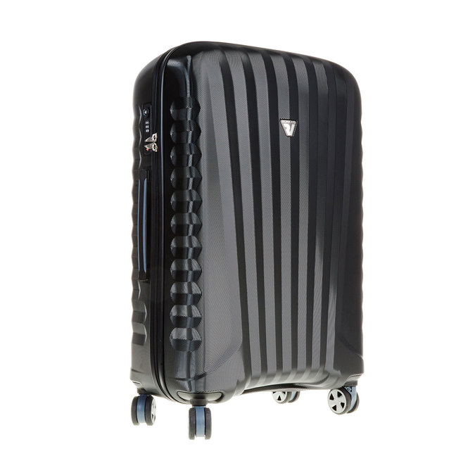 Černý cestovní kufr na kolečkách roncato, černá, 960-6601 - 13