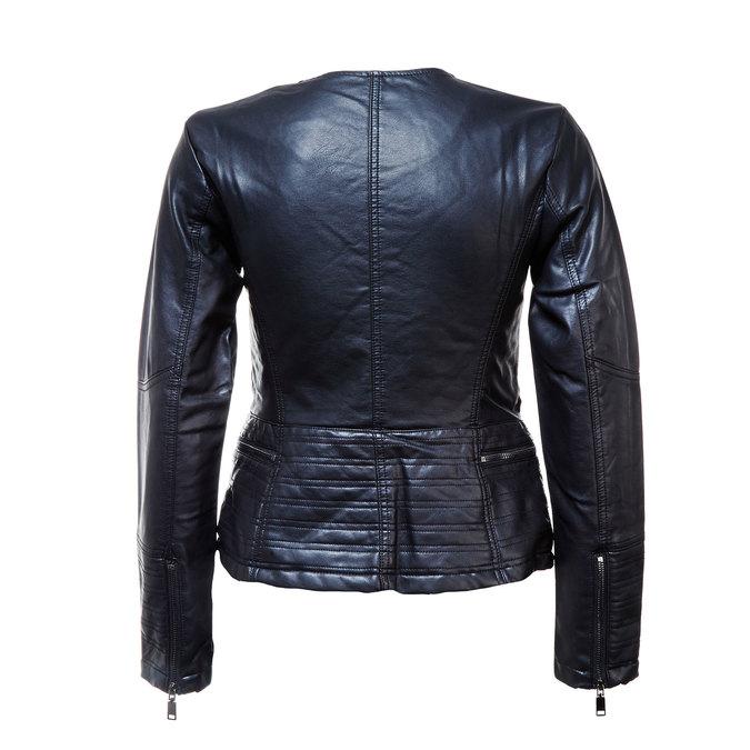 Dámská bunda s šikmým zipem bata, černá, 971-6186 - 26
