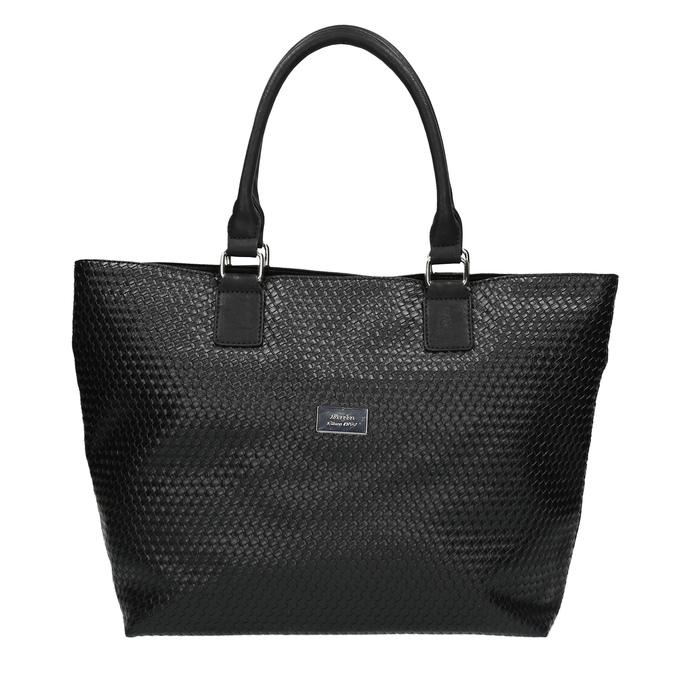 Dámská kabelka s propleteným vzorem bata, černá, 961-6651 - 19