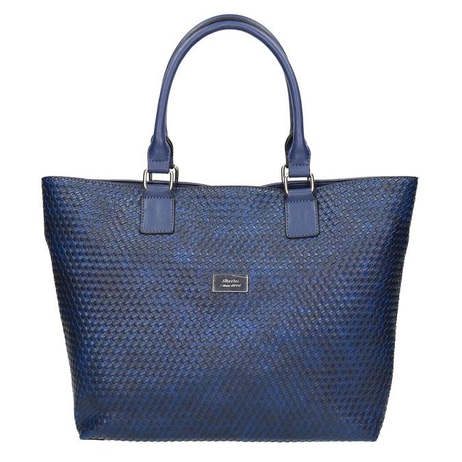 Modrá dámská kabelka bata, modrá, 961-9651 - 19