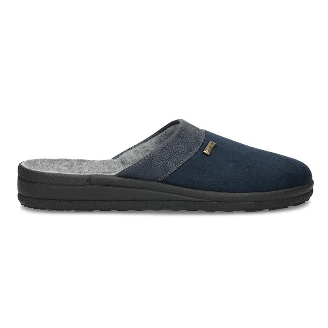 Pánská domácí obuv bata, modrá, 879-9600 - 19