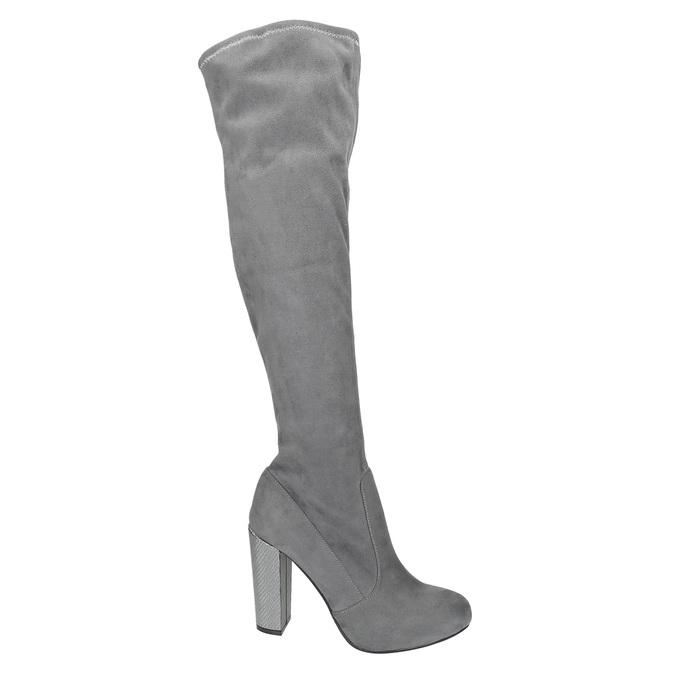 Dámské kozačky nad kolena bata, šedá, 799-2606 - 19