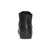 Kožená kotníčková obuv se zvířecím vzorem bata, černá, 546-6601 - 17