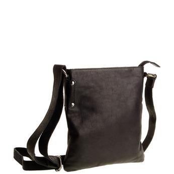 Kožená Crossbody taška bata, černá, 964-6113 - 13