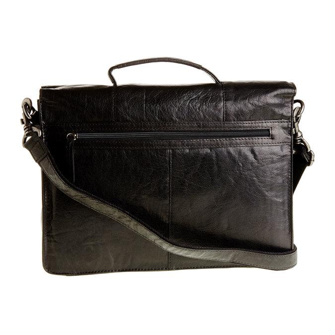 Kožená aktovka bata, černá, 964-6138 - 26