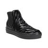 Kožená kotníčková obuv se zvířecím vzorem bata, černá, 546-6601 - 13