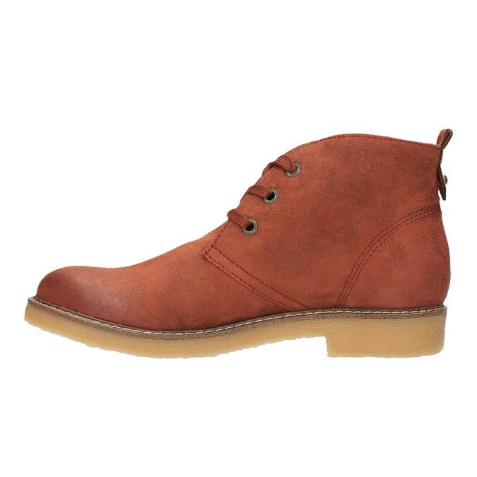 Dámská kotníčková obuv s barevnou podšívkou bata, oranžová, 599-5605 - 26