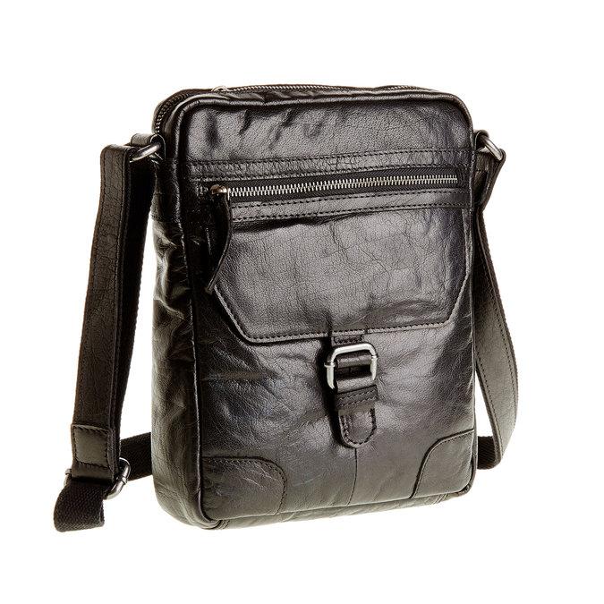 Kožená  Crossbody taška bata, černá, 964-6180 - 13